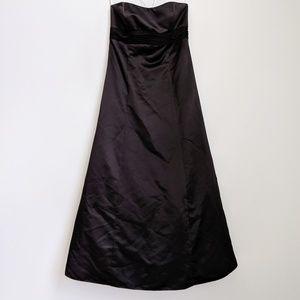David's Bridal Black Strapless Bridesmaids Dress